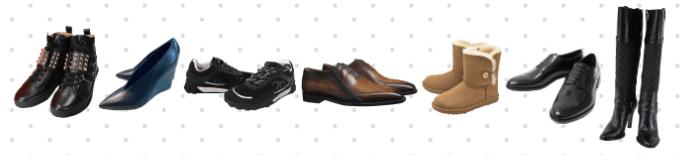 リナビスの靴クリーニングの対象となるアイテムのイメージ画像