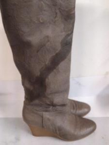 美靴パック_クリーニング前のブーツ